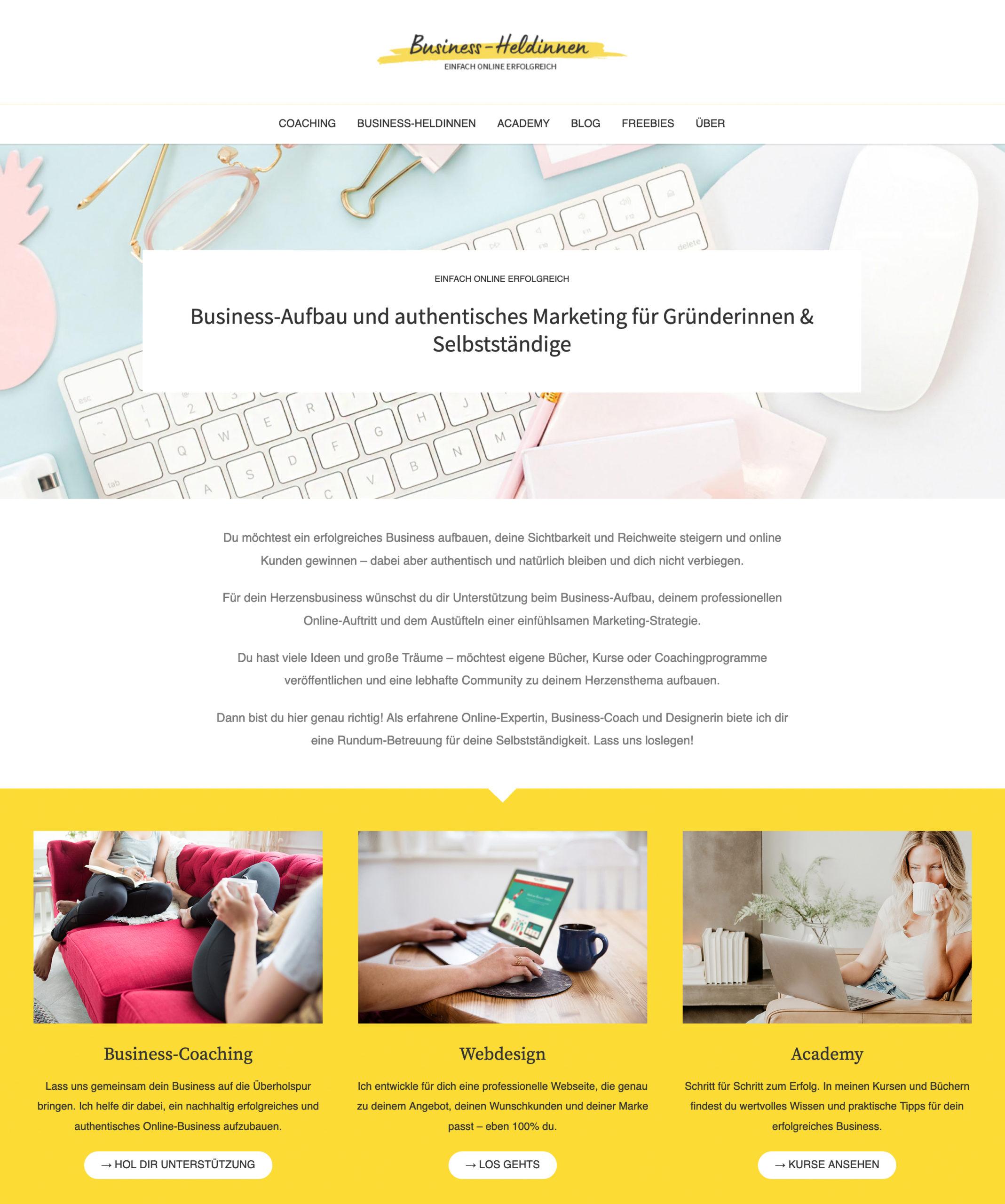 Webdesign Businessheldinnen
